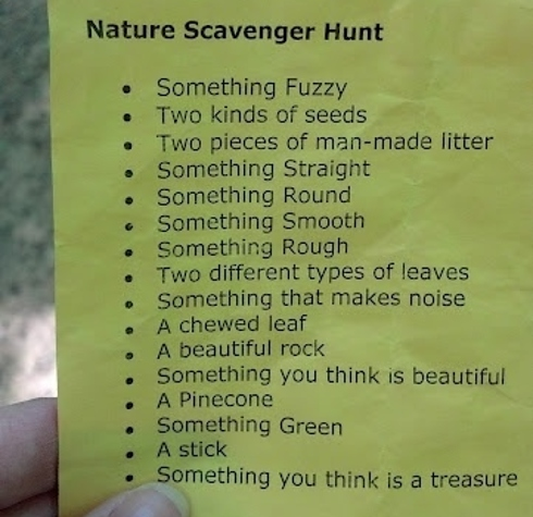 Keep The Kids Busy With A Nature Scavenger Hunt. Bring Along A Large Paper Bag With Handles For Each Child To Use.