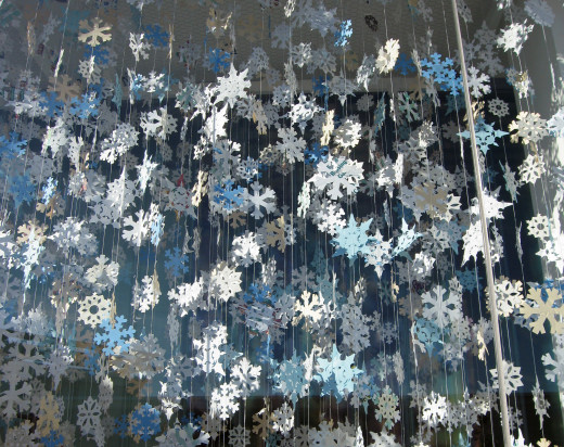 Create some beautiful 'snow' out of recycled paper.
