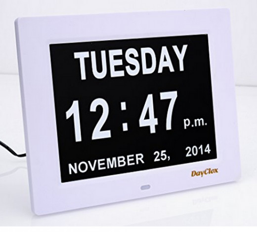 You'll have to click the link in the text to the right to see this beautiful day clock (and others)