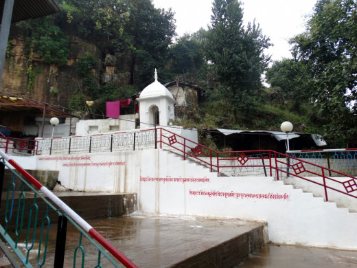 Outside the caves: Gupt Godavari
