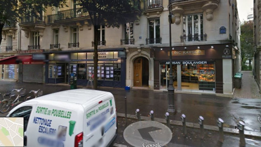 Snapshot of l'avenue Mozart in Paris, France using Google Street View