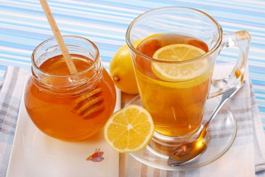Lemon Tea with Honey as natural sweetener