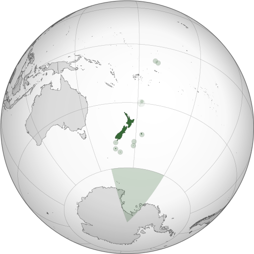 Map showing New Zealand's location