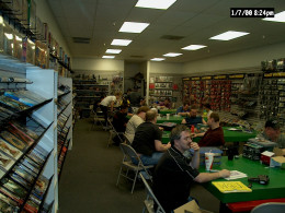 Gaming at a friendly local game store in Phoenix