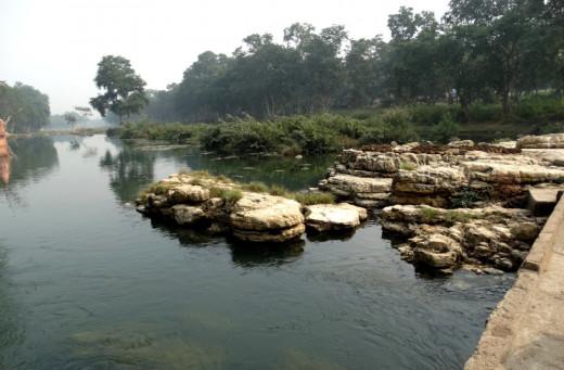 Mandakini river downstream at Janki Kund