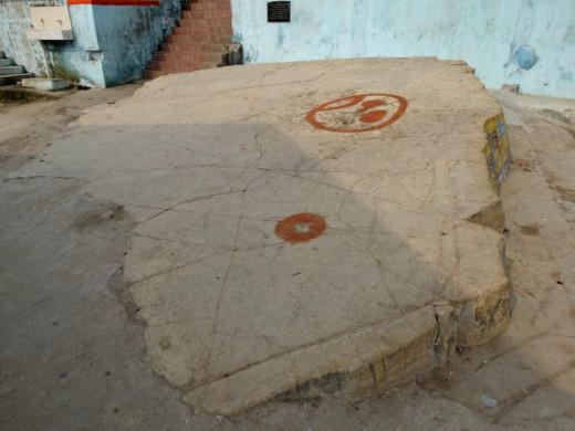 Footprint of Lakshman on a stone called Lakshman Shila