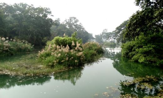 Mandakini river at Sphatik Shila
