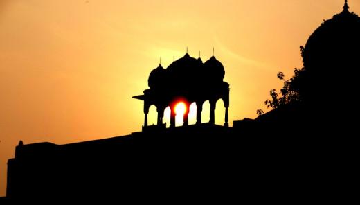 Sunset at Chitrakoot Dham