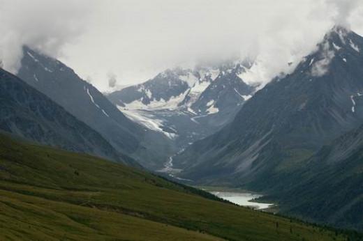 Mountains in Altai Republic. No train will lead you there.