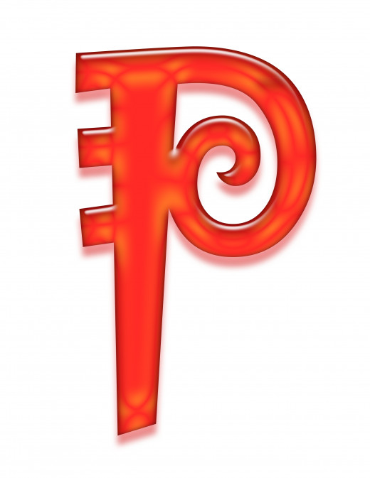 Print 2 of the letter p.