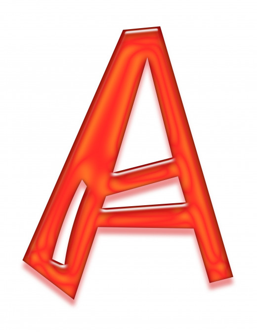 Print 2 of the letter a.