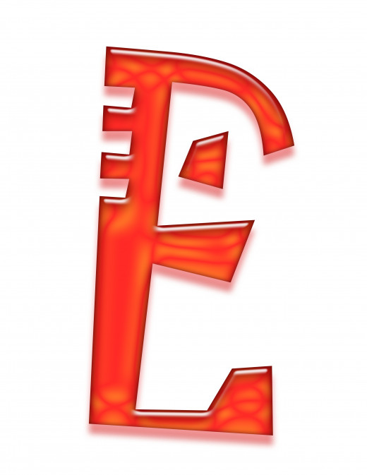 Print 2 of the letter e.