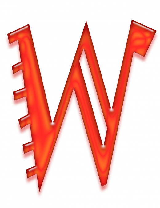 Print 1 of the letter w.