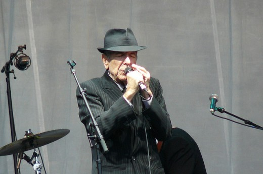 Leonard Cohen at Edinburgh Castle