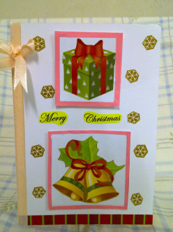 How to make a handmade Christmas Card- Jingle Bells