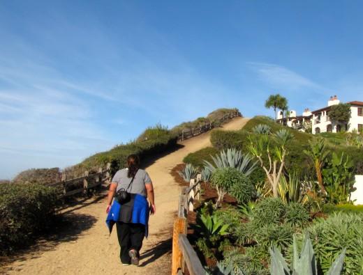 Cliff walk in Goleta, California.