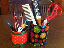 DIY : Easy Craft For Kids~Reuse Waste Materials To Make Multi Purpose Holder for Pen, Pencils, Spoons!