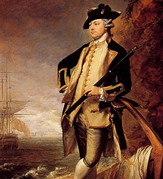 Augustus John Hervey, born 1724 died 1779 was the 3rd Earl of Bristol and an admiral in the British navy