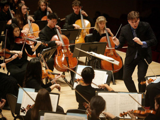 Ryan McAdams conducting the New York Youth Symphony in Beethoven's Leonore Overture no. 3