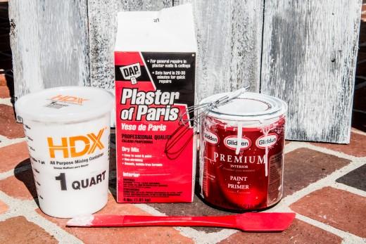 Homemade chalk paint using Plaster of Paris