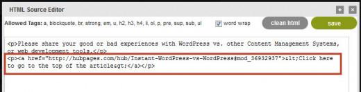 View/Edit HTML