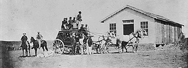 Buffalo Soldiers Guarding Concord Type Stagecoach 1869, National Archives