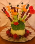 Edible Table Decoration Christmas Fruit Platter