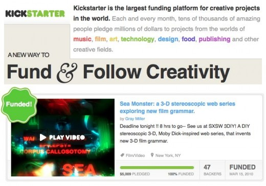Kickstarter.com is the leading Crowdfunding platform for writers