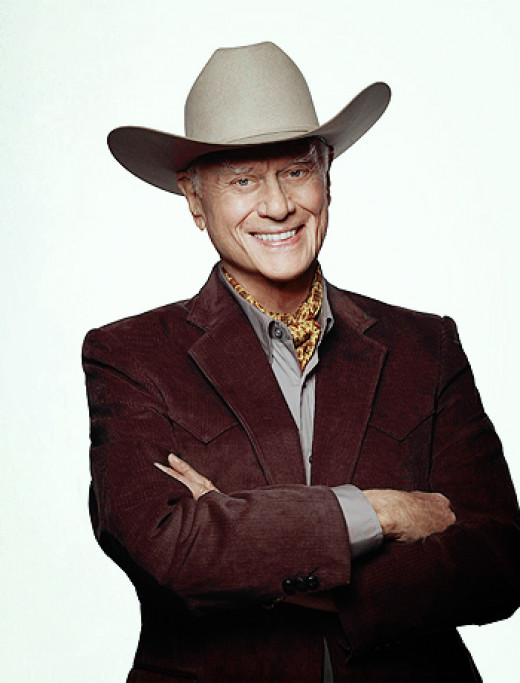 "Larry Hagman as the late, great ""J.R. Ewing"""