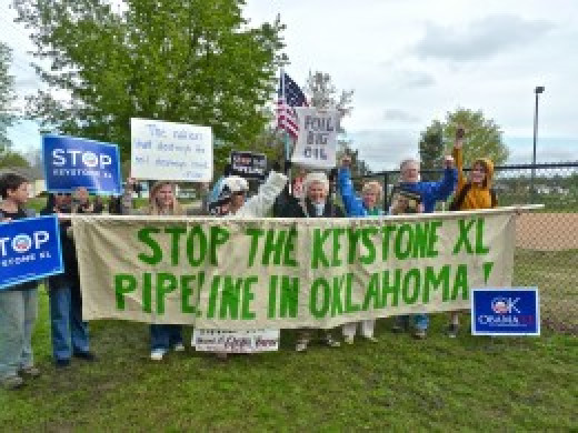 In 2013, when President Obama went to Oklahoma to announce he was fast tracking the southern leg of the Keystone XL pipeline, protesters challenged him.
