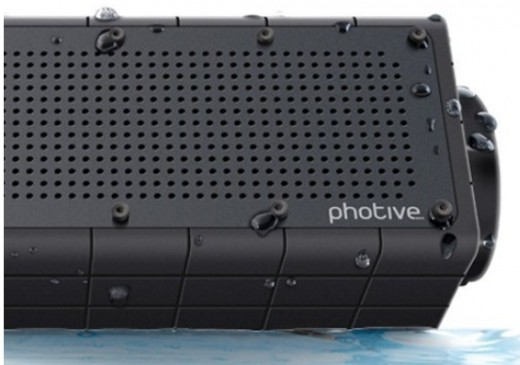 The Photive Hydra rugged water resistant wireless Bluetooth speaker