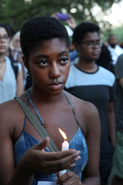 A vigil for Michael Brown