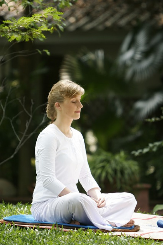Mindfulness can be practiced seated or lying down.