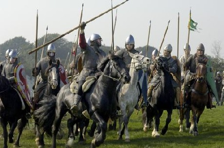 Norman cavalrymen - the tanks of the early middle ages