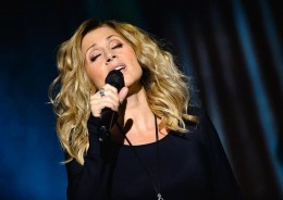 "Lara Fabian performing in the ""Best Of"" tour, in Prague, Czech Republic - October 16, 2014."