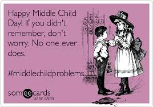 Yes, the middle child is oftentimes ignored, overlooked, & even overshadowed.  It seems that the middle child is a non-entity in his/her family. H/she never seems to get his/her day in the sun.  All h/she wants is some respect now.