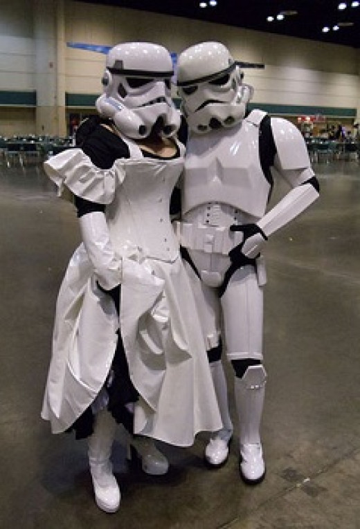 These are real people in Star Wars costumes but you can get the idea!