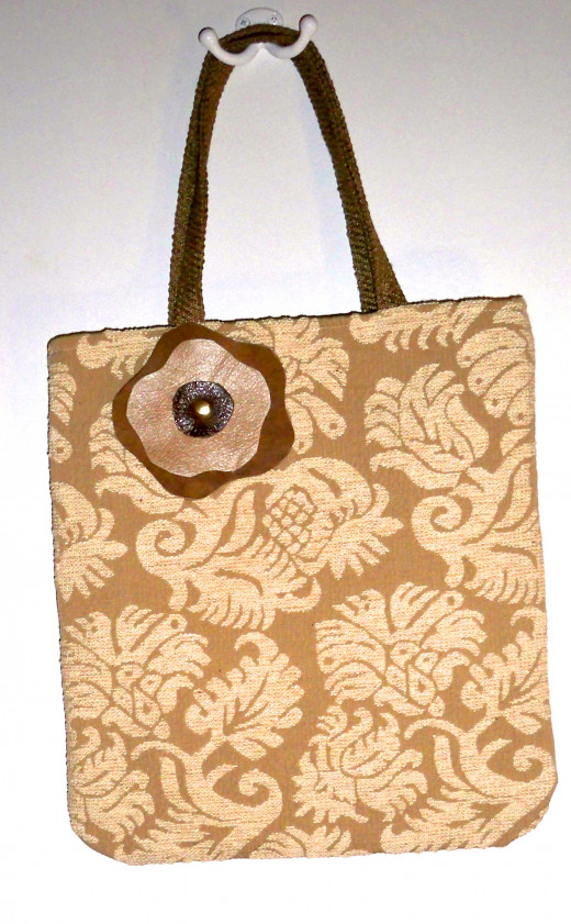A neutral bag with a fun flair.