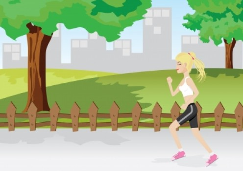 Jogging is a way of lifting your self esteem