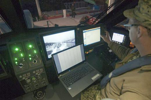 Interior of Coastal Command Boat