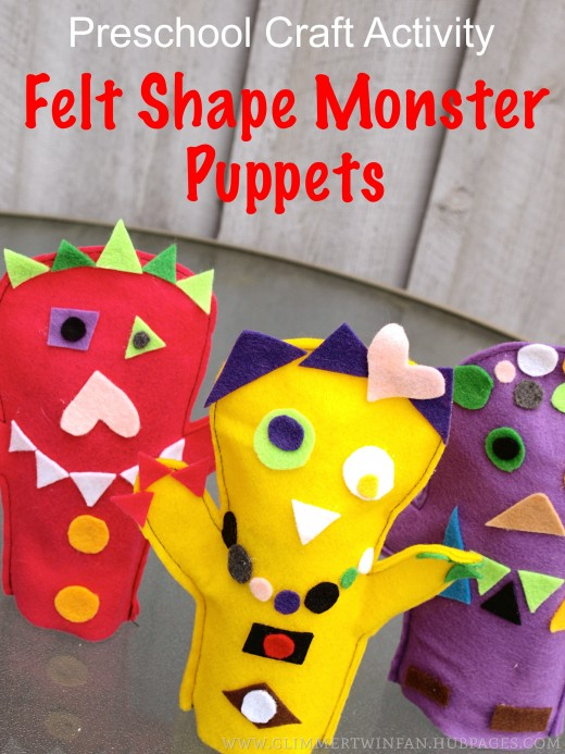 felt shape puppet craft project for preschoolers On felt crafts for preschoolers