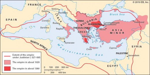 Byzantine Empire from the 6th-14th Century