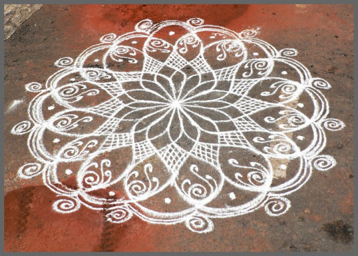 Kolam Drawing