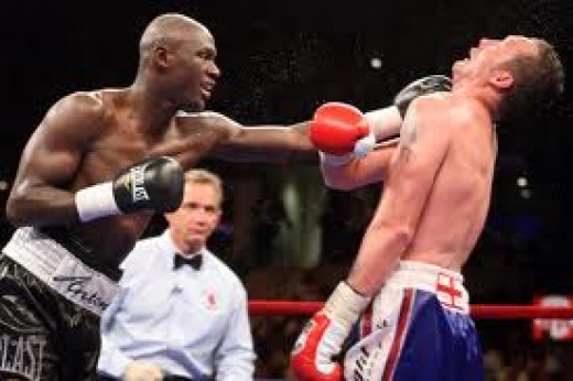 Antonio Tarver easily put a beat down on Clinton Woods of England in their bout for the light heavyweight title.