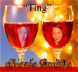 """Two Glasses Ting"" poetry by Cathy Nerujen"