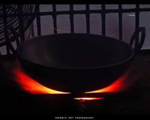 Cast iron kadhai