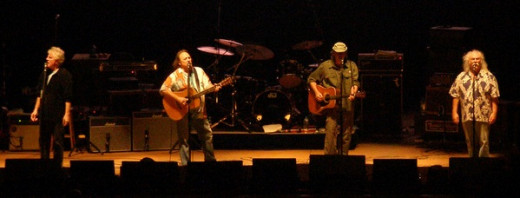 Crosby, Stills, Nash & Young perform at the PNC Arts Center, Holmdel Township, New Jersey, USA in August, 2006.