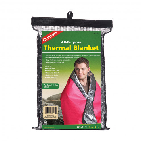 The all important thermal blanket - one of the key items you should have in your first aid tackle box