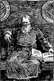 Christian Krohg woodcut of Snorri Sturlusson, Icelandic monk and skald. The storyteller met a violent death