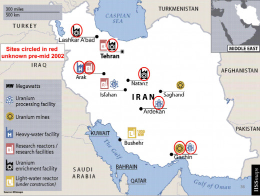 Iran's nuclear sites.